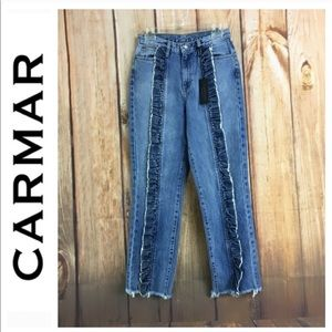 Carmar Denim Ruffle Jeans